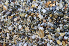 Close up of Stones on beach. Summer background. Selective focus stock photo
