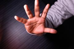 Close up of stopping hand gesture, Stock Images