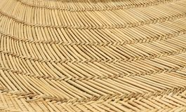 Close Up of Straw hat Brim. Close up of the wide brim of a straw hat Stock Image