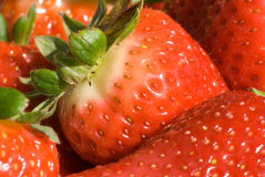 Close up of strawberries. Ready to eat Stock Photo