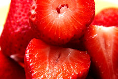 Close-up of strawberries. Close-up of ripe fresh strawberries royalty free stock image