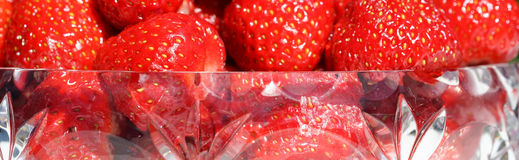 Close up of strawberries in bowl Stock Images