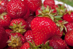 Close up of strawberries Royalty Free Stock Images