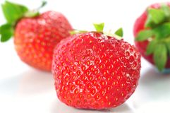 Close up of a  strawberry Royalty Free Stock Images