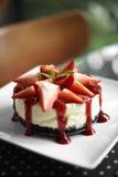 Close up strawberry cake Stock Photos
