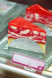 Close up strawberry cheese cake Royalty Free Stock Images