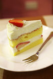 Close up strawberry cheese cake Stock Images