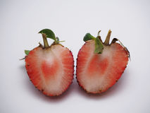 Close up strawberry. Delicious strawberry for cooking panna cotta stock photo