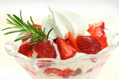 Eton mess strawberry dessert Stock Image