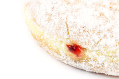 Close up strawberry donut. On white background Stock Photo