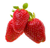 Close-up strawberry isolated on white Royalty Free Stock Photo