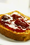 Close up of strawberry jam Royalty Free Stock Photography