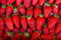Close up of strawberry on market Royalty Free Stock Photos