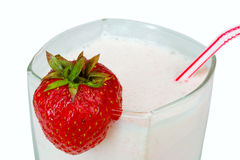Close-up strawberry milkshake Stock Image