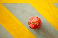 Close up strawberry milkshake Royalty Free Stock Photos