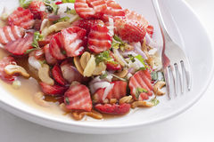 Close up strawberry salad Stock Photos