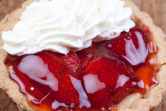 Close up strawberry tart Royalty Free Stock Photography