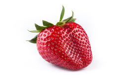 Close up of strawberry on white background Royalty Free Stock Photo