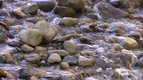 Close Up of Stream Flowing Over Rocks stock video footage