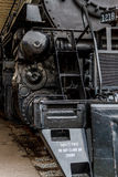 Close up stream powered locomotive. Royalty Free Stock Image