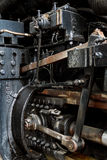 Close up of stream powered locomotive. Royalty Free Stock Photo
