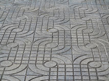 Close - up street floor tiles as background Royalty Free Stock Photography