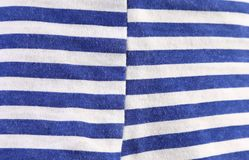 Close up of striped blue white texture. Royalty Free Stock Photos