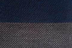 Close-up of striped knitted jumper royalty free stock photo