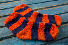 Close up of striped pattern socks Stock Photography