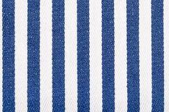 Close up on striped woven fabric texture. royalty free stock photo