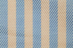 Close up stripes fabric texture. Close up seamless stripes blue and brown fabric pattern texture background Stock Photo