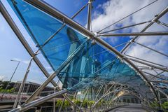 Structure of The helix bridge, Singapore Royalty Free Stock Photography