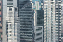 Close up structure of office building in Singapore Stock Images
