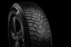 Close-up studded tire royalty free stock photos