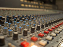 Close up Studio Audio Mixer Royalty Free Stock Image