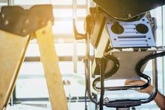 Studio lighting equipment. Close up of Studio lighting equipment stock image