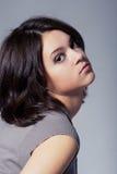 Close-up studio portrait of beautiful young girl Stock Photos