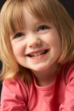 Close Up Studio Portrait Of Smiling Young Girl Stock Photos