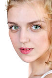 Close up portrait of a young blonde  woman Stock Photography