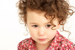 Close Up Studio Portrait Of Young Girl Royalty Free Stock Photos