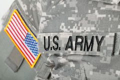 Free Close Up Studio Shot Of U.S. ARMY And USA Flag Patches On Solders Uniform Stock Image - 87477561