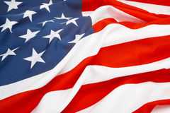 Close up studio shot of USA flag Royalty Free Stock Photo