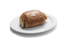 Close up of a stuffed pastry on a plate Royalty Free Stock Image