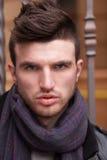 Close Up of stylish guy face Stock Images