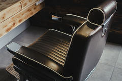 Close-up Stylish Vintage Barber Chair Royalty Free Stock Image