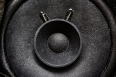 Close-up of sub woofer Royalty Free Stock Image