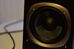 Close up of a Subwoofer Speaker from a Studio Monitor Royalty Free Stock Photography