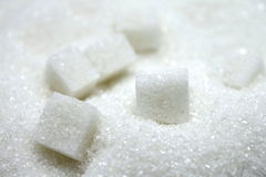Close up of sugar cubes Stock Photos
