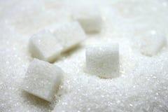 Close up of sugar cubes Stock Photos