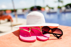 Close up of summer accessories Royalty Free Stock Images